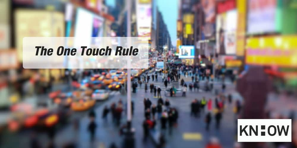 The One Touch Rule